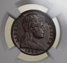 1942 1c Penny Cent US Pattern Coin J-2062 NGC MS-60 E3 Reverse <180 degree WW