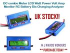 DC combo Meter LCD Watt Power Volt Amp Monitor RC Battery Dis Charging Analyzer