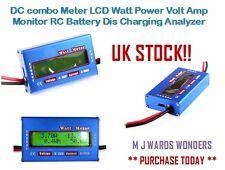 DC Combo Medidor LCD Monitor de amp de vatio de potencia de voltios batería RC ANALIZADOR DE CARGA Dis