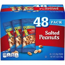 Planters Salted Peanuts, 1 Oz. Bags (48 Pack) - Snack Size Peanuts - Kosher