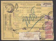 STORIA POSTALE REGNO 1926 Pacchi Postali 2,50L da Firenze a Parigi (E7)