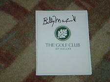 Billy Maxwell 1962 Dallas  Open Signed Golf Club of Dallas Scorecard