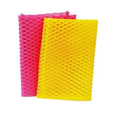 Dish Washing Net Cloths Sanitary Scrubber for Cleaning Dishes Pink/Yellow 2PCS
