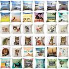 Animal & Beach Pattern Cotton Linen Pillow Cover Pillowcase Sofa Cushion Cover
