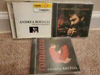 Lot of 3 Andrea Bocelli CD: Viaggio Italiano, Sogno, Romanza