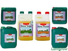 CANNA Nutrients- Terra Vega & Terra Flores 1L, 5L & 10 Litre Hydroponics