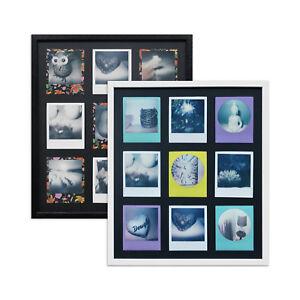 WANDStyle Bilderrahmen für Polaroid-Bilder + Passepartout für 9 Polaroids - A850