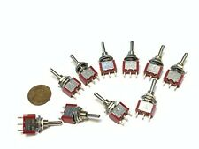 10 pieces ON/OFF/ON SPDT 3 Pins 5v 12v Momentary Toggle Switch mts-1 6a 125v A4