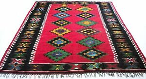 """Antique Vintage Tribal Handmade Hand-Knotted Soft Rug  97"""" X 115"""" pure wool  #82"""