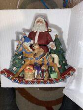 "Fitz & Floyd ""Old Fashioned Christmas� Santa Plays Musical Tune ""Toyland�"