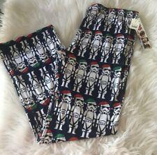 Disney NWT Star Wars Santa Christmas Storm Trooper Knit Pajama Lounge Pants L