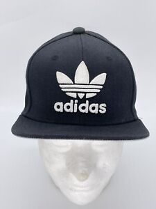 Adidas Youth Originals Trefoil Chain Snapback Hat Cap Unisex Black/White