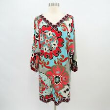 Hale Bob Vintage Tunic Dress S Small Dolman Batwing Sleeve V-Neck Boho