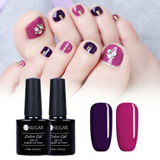 2stk/Lot 7.5ml Lila Farbe Gel Nails NagellacK Nail Art Maniküre Kit Long Lasting