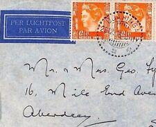 AR106 1935 DEI AIRMAIL Dutch Indies *Dua Singa* Cover Scotland {samwells-covers}