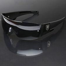 Flat Top Oversize Square Sport Sunglasses Men Women Shield Lens Black Frame