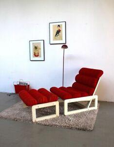 60er Designer Sessel Lounge Stuhl Space Age Panton Ära Lehnstuhl 70er Hocker 60s