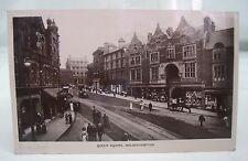 QUEEN SQUARE 1912 WOLVERHAMPTON ANTIQUE SOUTH STAFFS REAL PHOTO POSTCARD*