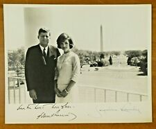 President John Kennedy and Jacqueline Kennedy Signed 8x10 Photo