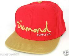 Diamond Supply Co. Baseball Cap OG Logo Snapback Red Gold Diamond Supply Co