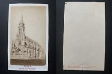 France, Rouen, église de Bonsecours Vintage albumen print CDV.  Tirage albumin
