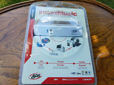 INSTANT MUSIC by ADS tech RECORD YOUR OLD LPS & CASSETTES TO CD/MP3 *UNOPENED*