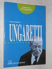 UNGARETTI Vincenzo Siciliano Nicola Merola Giunti Lisciani 1994 letteratura di