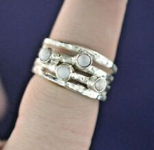 STERLING SILVER SMALL PEARL RING SZ 5.75