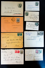 Italy Colonies Lot of 40 Stamped Commercial & Air Covers & Postcards