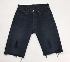 Levis shorts jeans vintage strappi  usato denim uomo mare hot retro blu T2082