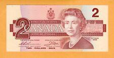 Canada Replacement Banknote UNC 2 Dollar Thiessen Crow prefix EBX P-94b* 1986