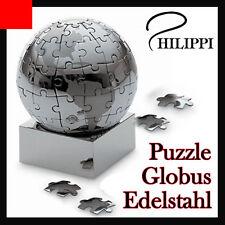 3D Puzzle Globus Erde Welt Weltkugel Philippi Deko Geschenkidee Edelstahl