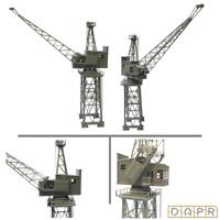 DAPR - N Gauge Model Scenery Building Kit - Vintage Dock Crane