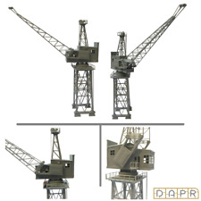 DAPR - N Gauge Model Scenery Building Kit - Vintage Dock Crane