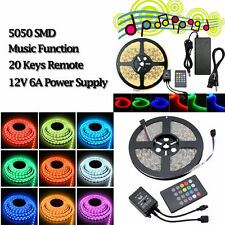5050 Music Sound Activated 5M 300 LED IP65 Strip Light 20Key Music Melody Remote