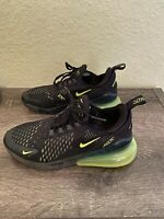 Nike Air Max 270 Sneakers Shoes Size 5Y Black /  Volt