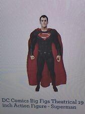Dc  big figs. 20 inch Variant. Superman Black /red Suit  Big Fig