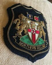 VTG Northern Ireland Irish Arms Royal County Crest Seal Blazer FELT Patch Badge