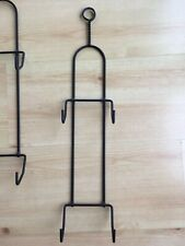 Lot 5 Modern Black Wrought Iron Vertical Wall Plate Holder Rack Display