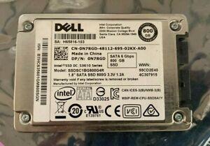 """Dell 800GB 1.8"""" SSD N7RGD / Intel S3610 Series SSDSC1BG800G4R"""