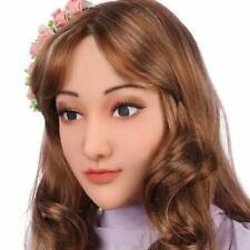 Soft Silicone Realistic Female Head Mask Hand-Made Face for Crossdresser Tran...
