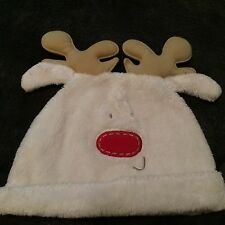 """New NEXT Toddler """"Rudolph the Red Nose Reindeer"""" Hat Beanie 6-12 Months"""