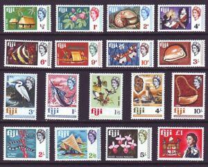 Fiji 1968 SC 240-256 MNH Set