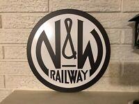 Norfolk & Western Railway Round Logo Heavy Steel  Sign New