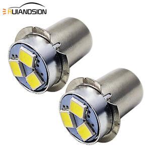 DC3V 4.5V 6V 12V 18V P13.5S PR2 LED Torch Light Flashlight Bulb Lamp 6000K/3000K