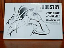 Libro de clip de la industria de 1963 completa de Line Art Harry Volk Jr Art Studio-no 365