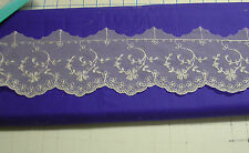 Netting lace edging white sewing quilting heirloom sewing by the yard