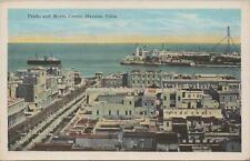 Postcard Prado and Morro Castle Havana Cuba