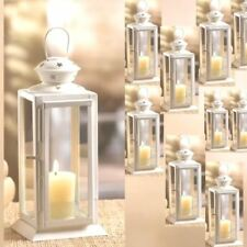 "Lot 10 Starry Cutout Lantern 8"" Small White Candle Holder Wedding Centerpieces"