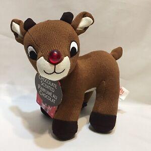 2006 Dandee Rudolph Plush Chocolate Scented Brown Christmas Stuffed Animal